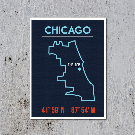 going underground chicago map print
