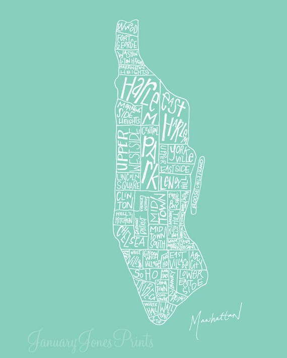 january jones manhattan illustrated map