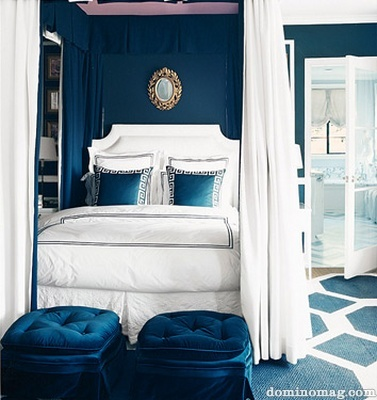 Peacock Blue Bedroom Pillows And Peonies