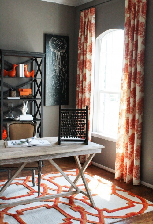 Gray and Orange Color Schemes | Pillows and Peonies