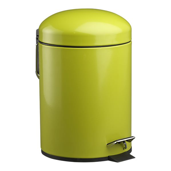Yellow bathroom trash can amazoncom luxo toilet waste - Crate and barrel espana ...